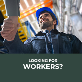 Man in a work uniform and hard hat | Looking for Workers?